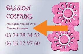 passion couture Saint Amand sur Ornain