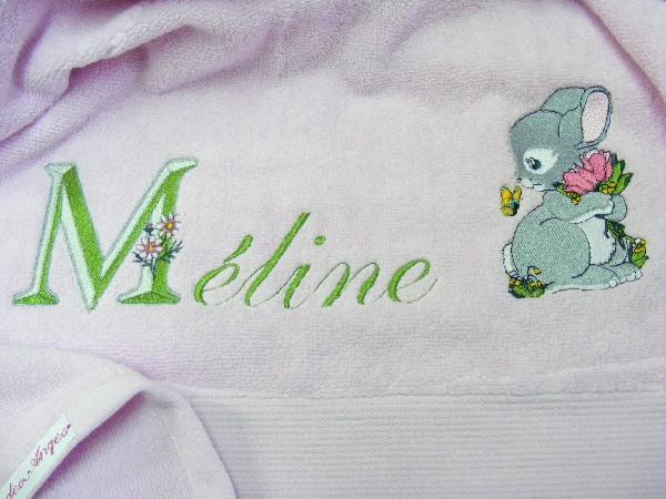 Un joli lapin pour une jolie Méline...
