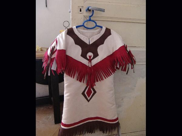 robe d'amérindienne en suédine