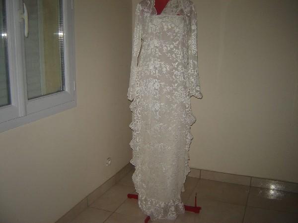 Robe de mariage <br /> en dentelle
