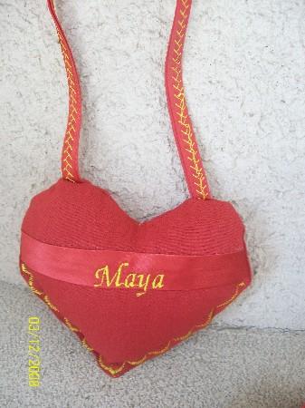 cœur brodé 15€