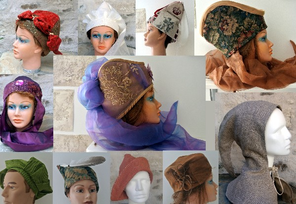 Cr&eacute;ation et r&eacute;alisation de chapeaux m&eacute;di&eacute;vaux.<br /> Nous les commercialisons sur etsy,little market et les f&ecirc;tes m&eacute;di&eacute;vales.