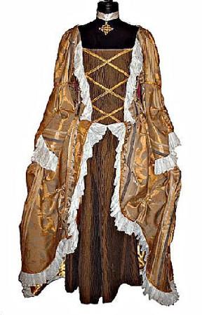 Marquise <br /> Cette superbe robe de marquise pour le carnaval de Venise <br /> Rehausser de dentelle blanche ...de couleur or et bronze <br /> Doubler de satin or <br /> Cette marquise et de tr&egrave;s grande qualit&eacute;