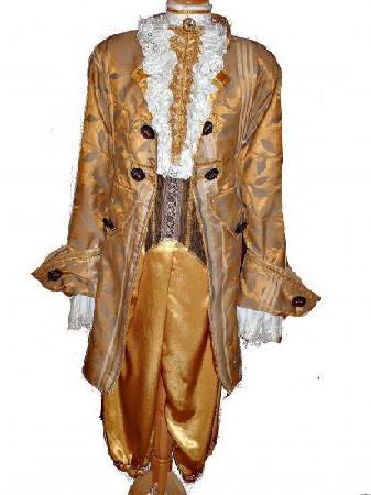 Marquis <br /> Ce superbe marquis cr&eacute;er pour le carnaval de Venise<br /> Il ce compose d&#039;une veste ,jabot,plastron,manchette,pantalon