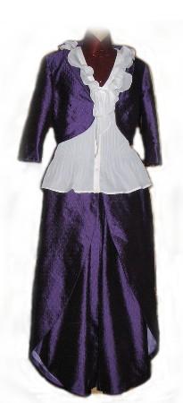 Ensemble jupe culotte et boléro, en soie, pour un mariage à cheval !!