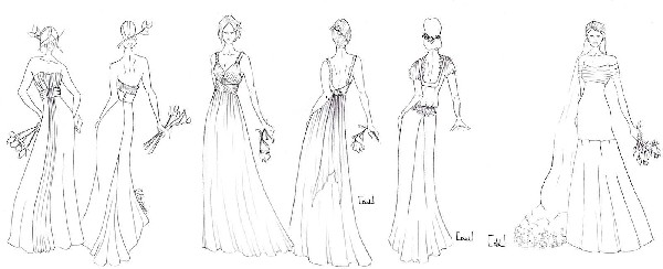 Vous avez une photo ou un croquis soumettez le a notre atelier et nous élaborerons ensemble la robe de vos rêves