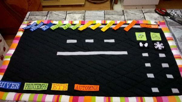 création divers pour enfants (jeux, vêtements,...),  mais aussi des vêtements pour adultes à partir d'un patronage