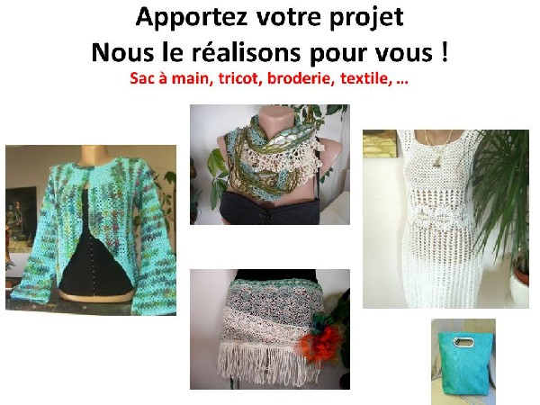 De vert v&ecirc;tue...<br /> R&eacute;alisation d&#039;une veste d&#039;une robe , un sac &agrave; main, un foulard et une ceinture surjupe en dentelle
