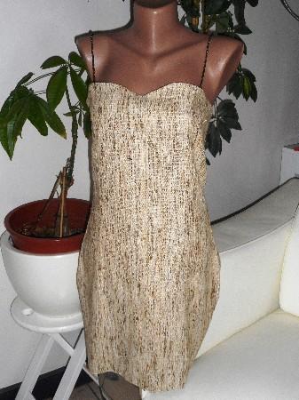 Robe lin et soie