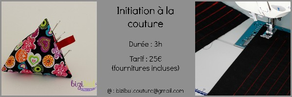 Cours d'initiation à la couture machine.