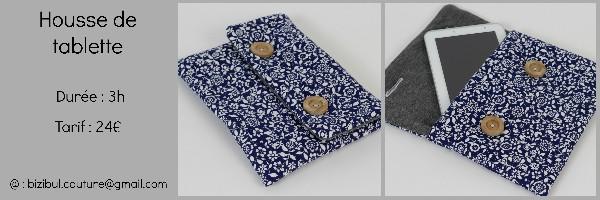 Cours de  couture : la housse de tablette.