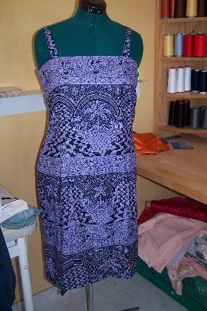 création robe de plage